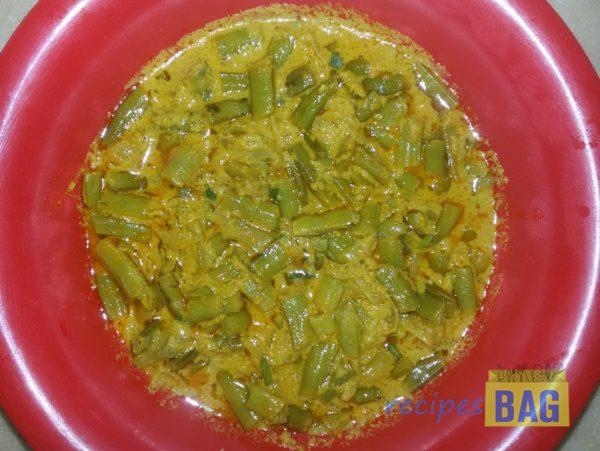 Cluster Beans in Sesame Seeds Paste / Dum ki Gawar Ki Phalli