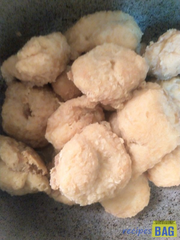 With this step the fritters become soggy and soft. Keep aside.
