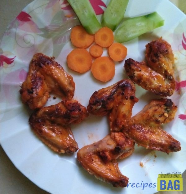 Grilled Chicken wings in airfryer