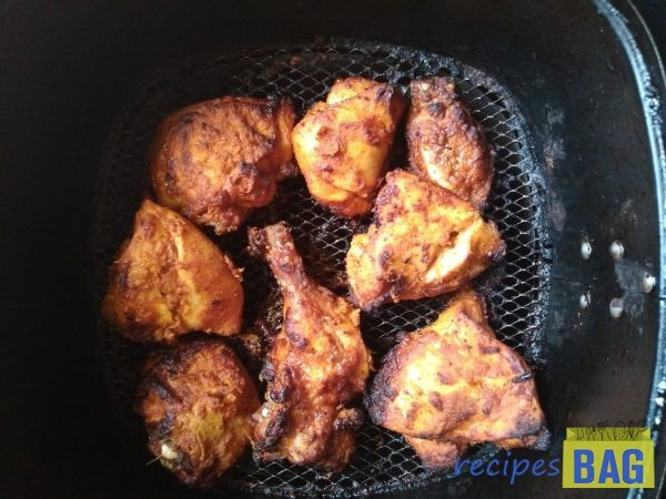 That's it. Tandoori chicken is ready to be served.
