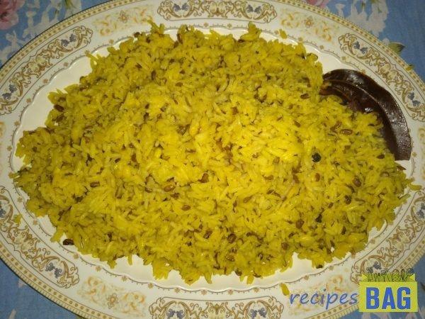 Khichdi / Moong dal Khichdi /   Green gram Khichdi
