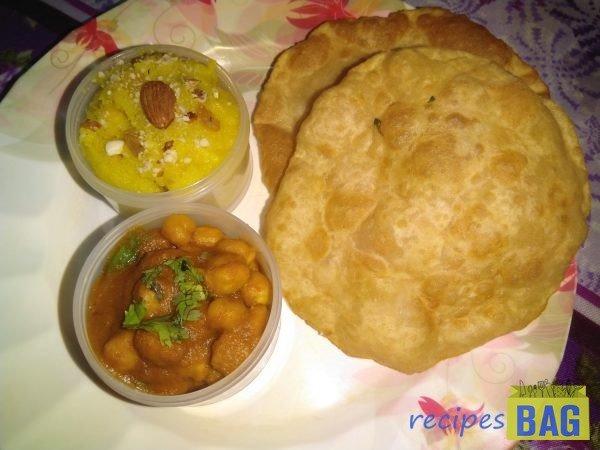 Chole bhature recipe/ Halwa puri recipe/ Whole wheat Poori or Bhature recipe.